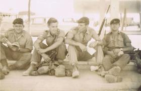 2 Para soldiers rest in Kuwait, c.1961