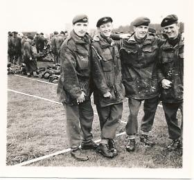 Members of Assault Pioneer Platoon S Coy 17th Bn before a Battalion Drop, 1957