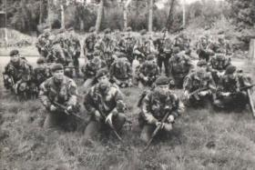 Group photo of A Coy 2 Para, 1974