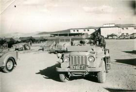 2 PARA Anti-Tank Platoon vehicle with 106mm rifle in towing position, Jordan 1958