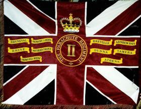 The Colours of the 2nd Battalion, The Parachute Regiment.