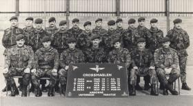 Members of 3 Platoon, A Company, 2 PARA, Crossmaglen, 1985.