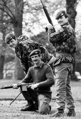 Members of 2 PARA, 1980.