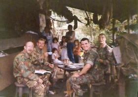 Members of 2 PARA, Guatamala border, Belize, 1987.