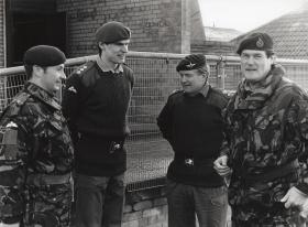 Members of D Company, 2 PARA, during the Palace Barracks Tour, NI, 1993-95.