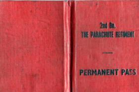 The 2nd Parachute Battalion, Permanent Pass Book.