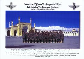 Warrant Officers' and Sergeants' Mess, Kabul, Afghanistan, March 2002.