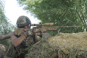 2 PARA sniper engaging targets, Afghanistan, 2008