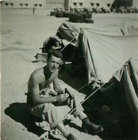 2 PARA soldier at the tented camp Amman, Jordan 1958