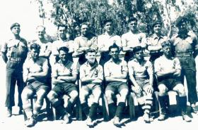 Support Company 2 PARA football team, Canal Zone Egypt, c1953.