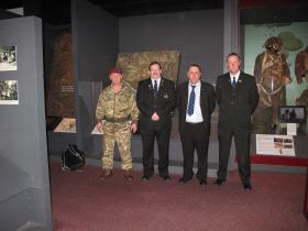 The participants in BFBS filming for a documentary on Warrenpoint, at Airborne Assault, Duxford, Feb 2015.