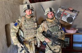 """Paratroopers from 2 PARA uncover a """"Ghetto Blaster"""", Afghanistan, 2011"""