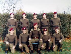 2 Section 9 Platoon Junior Para Company 1981.