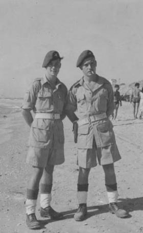 Two members of 6th Parachute Battalion Palestine 20 August 1946