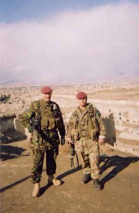 Soldiers from 2 PARA on high ground overlooking Kabul, Afghanistan, 2002