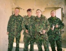 Members of 2 PARA, Operation Fingal, 2002.