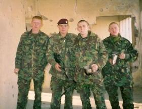 Members of 2 PARA, Operation Fingal, 2002.