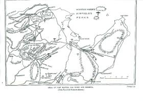 Map showing area of last battle for Tunis and Bizerta.