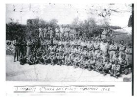 B Company 4th Parachute Battalion in a group shot in Italy during Operation Hasty, September 1943.