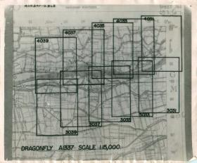 Map showing bridges along River Po for Operation Dragonfly.