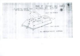 Diagram of railway line charge designed by 9 Field Company.