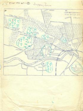 Map showing Arnhem dropping zones.