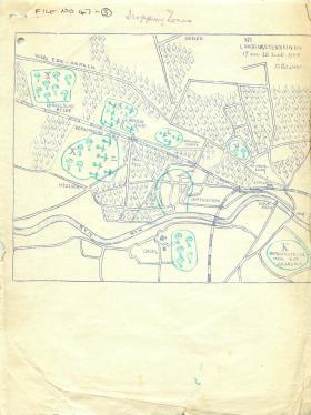 Map showing Arnhem dropping zones.