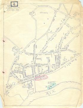 Map showing Arnhem area.