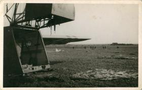 Waco glider on landing on drop zone, Arnhem