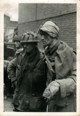 Wounded members of 1st Parachute Squadron RE in Arnhem.