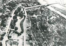 RAF reconnaissance photo of Arnhem town centre prior to the battle.