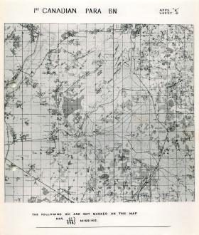 Map showing 1st Canadian Parachute Battalion.