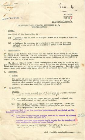 Operation instruction about chemical warfare in Operation Overlord.