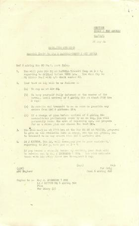 Special instructions for Major M Derrell-Brown.