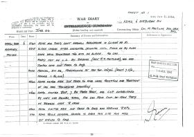 War diary for 6 AB Division medics on D-Day and aftermath.