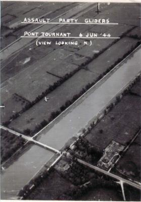 Aerial photo showing assault party gliders.