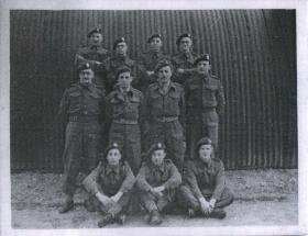 Group photo of HQ 6 Airborne Division Royal Engineers prior to Normandy.
