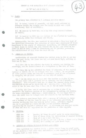 Report on operations of 6 Airborne Division on D-Day and day after.