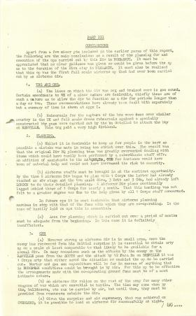 6th Airborne Division Report on Operation Overlord, part 2.