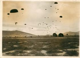 Paratroopers land on Megara airfield.