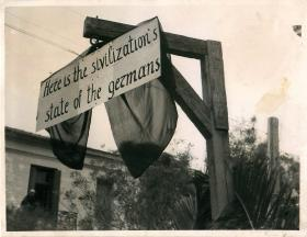 The gibbet upon which the Germans carried out public hangings.