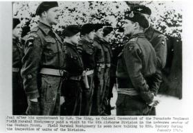 Field Marshal Montgomery visits 6th Airborne Division in the Ardennes.