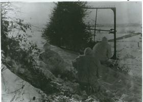 Recce patrol of B Coy, 9th Parachute Battalion near Marche-en- Famenne, 1945.