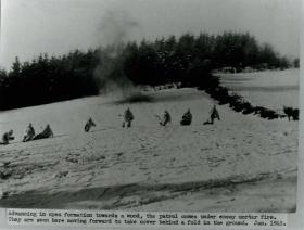 A patrol comes under enemy mortar fire.