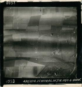 Aerial photos showing Dakota with right engine on fire.