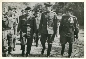 Montgomery and his Russian counterpart Rokossovsky in Wismar, May 1945.