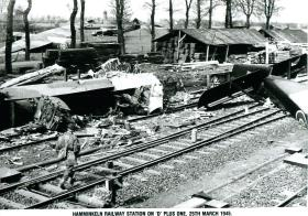 Hamminkeln railway station on D-day plus one. March 25th 1945.
