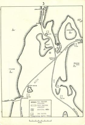 Map showing Sangshak battle area.