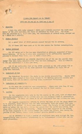2nd Parachute Brigade report on Operation Shark.