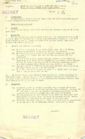 Report on Independent Parachute Squadron's operations in Malaya.